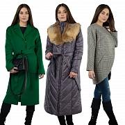Пальто оптом с натуральным мехом от производителя Пенза